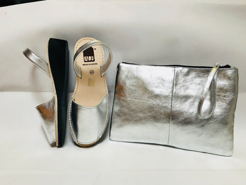 Silver Metallic Low Wedge ALBies Range