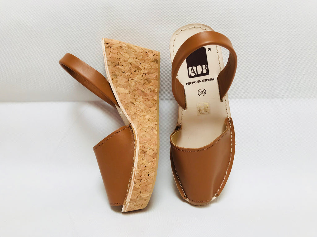 Tan Cork Wedge ALBies Range