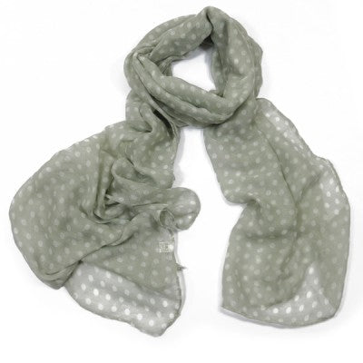 ALB Grey Polka Dot Scarf