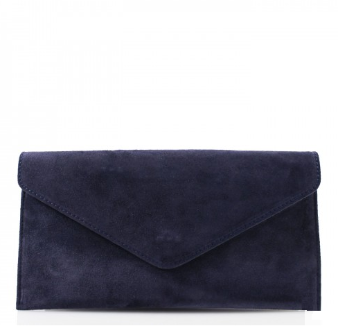 ALB Navy Real Suede Clutch Bag