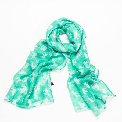 Mint Green Elephant Scarf