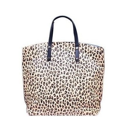 ALB Cheetah Pony Hair Leather Shopper Bag