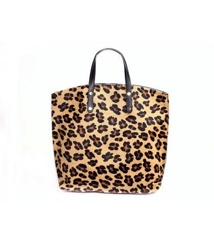 ALB Leopard Pony Hair Leather Shopper Bag