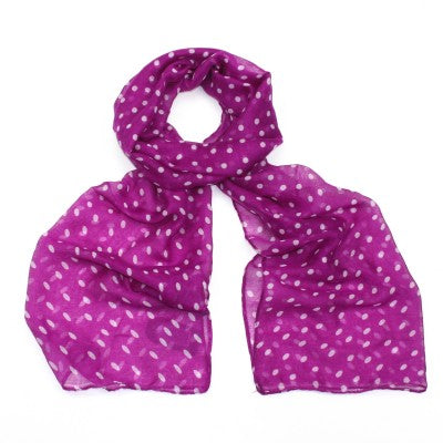ALB Purple Polka Dot Scarf
