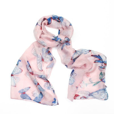 ALB Pink Butterfy Scarf