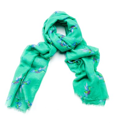 ALB Green Hummingbird Scarf