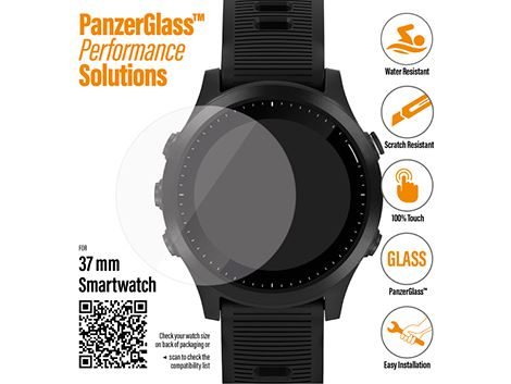 PanzerGlass screenprotector voor SmartWatches 37 mm