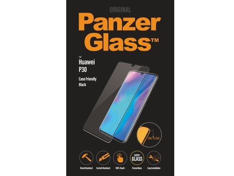 Panzer Glass voor de Huawei P30 - Black Case Friendly