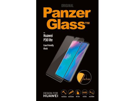 PanzerGlass voor de Huawei P30 Lite - Black Case Friendly