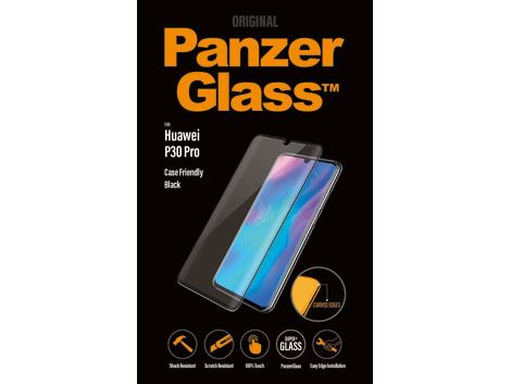 PanzerGlass voor de Huawei P30 Pro - Black Case Friendly