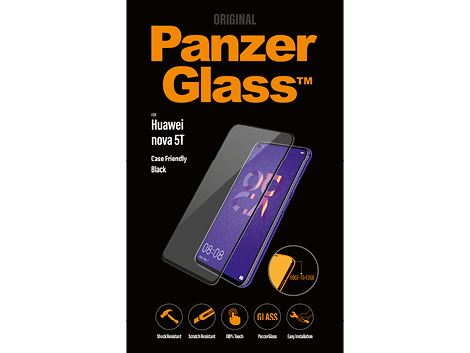 Panzerglass voor de Huawei nova 5T - Black Case Friendly