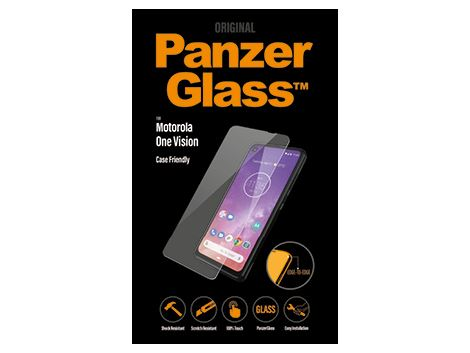 PanzerGlass screenprotector voor de Motorola One Vision Case Friendly