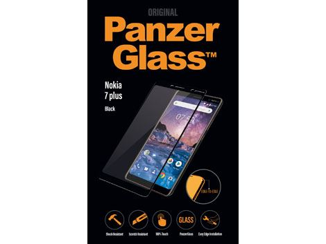 Screenprotector PanzerGlass Nokia 7 Plus - Black