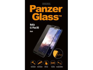 PanzerGlass screenprotector voor de Nokia 6.1 Plus - Black