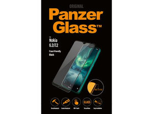 Screenprotector PanzerGlass voor de Nokia 6.2/7.2 - Black Case Friendly