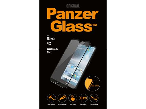 PanzerGlass screenprotector voor de Nokia 4.2 - Black Case Friendly
