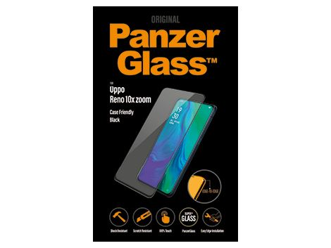 PanzerGlass screenprotector voor de Oppo Reno 10x zoom - Black Case Friendly