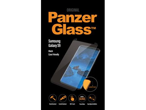 Panzerglass voor de Samsung Galaxy S9 - Black Case Friendly