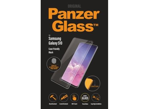 Panzerglass voor de Samsung Galaxy S10 FP - Black Case Friendly
