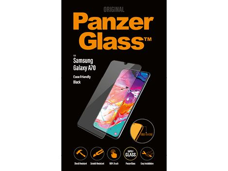 PanzerGlass voor de Samsung Galaxy A70 - Black Case Friendly