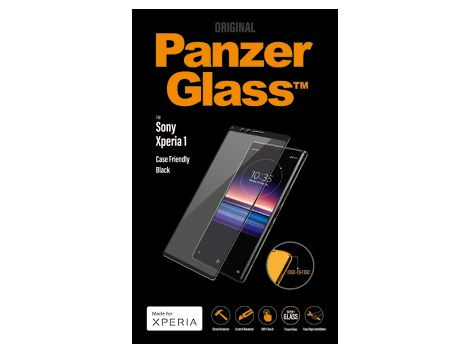 PanzerGlass screenprotector voor de Sony Xperia 1 - Black Case Friendly