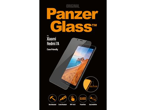 PanzerGlass screenprotector voor de Xiaomi Redmi 7A Case Friendly