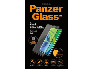PanzerGlass screenprotector voor de Xiaomi Mi Note 10/10 Pro FP-Black Case Friendly