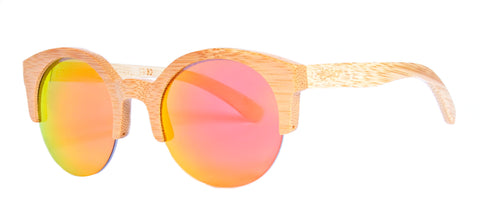 Gafas de Sol Cat Wooden Golden