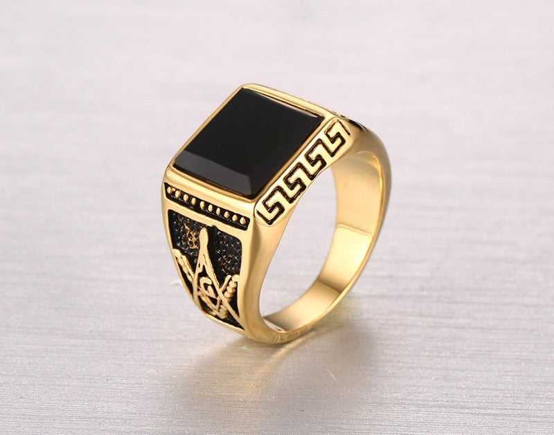 zircon rings wedding product ring agate men arabic detail black for buy
