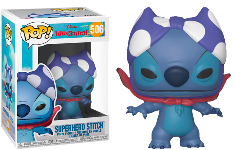Lilo & Stitch - Superhero Stitch Pop! Vinyl Figure - Rogue Online Pty Ltd
