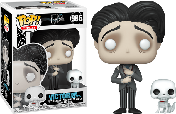 Corpse Bride - Victor Van Dort with Scraps Pop! Vinyl Figure - Rogue Online Pty Ltd