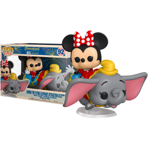 Disneyland: 65th Anniversary - Minnie Mouse with Dumbo The Flying Elephant Attraction Pop! Rides Vinyl Figure