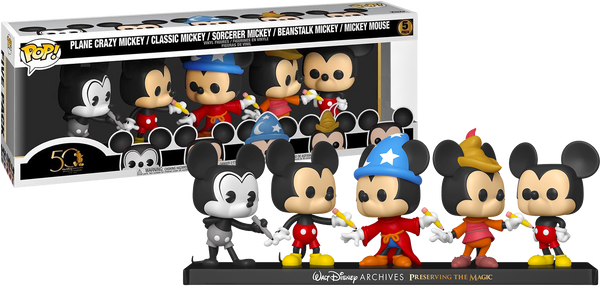 Walt Disney Archives - Mickey Mouse 50th Anniversary Pop! Vinyl Figure 5-Pack (RS) - Rogue Online Pty Ltd