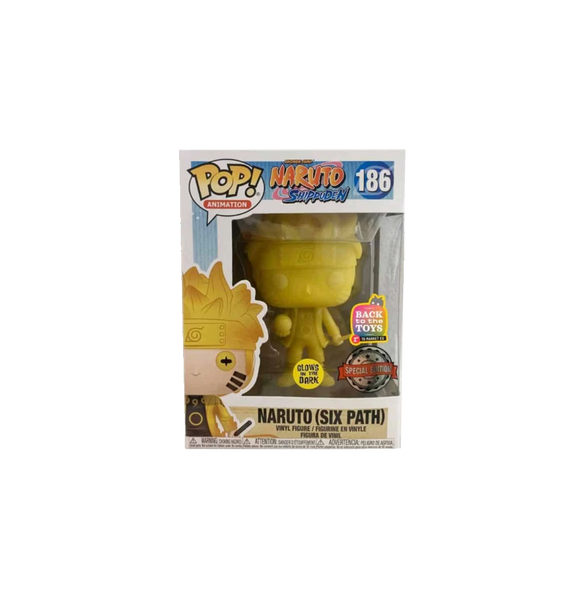NARUTO SHIPPUDEN POP! ANIMATION NARUTO (SIX PATH) GLOW-IN-THE-DARK VINYL FIGURE EU EXCLUSIVE - Rogue Online Pty Ltd