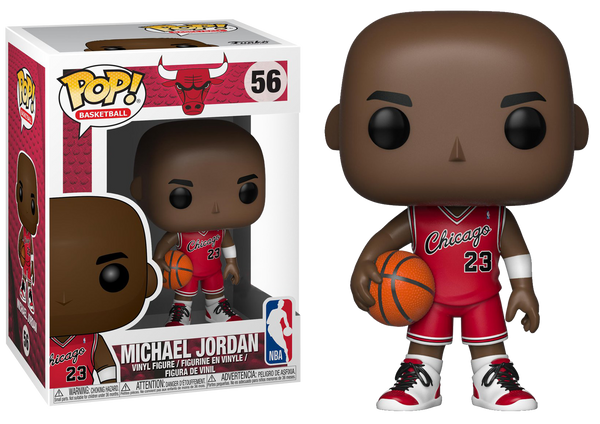 NBA Basketball - Michael Jordan Chicago Bulls Rookie Uniform Pop! Vinyl Figure (RS) - Rogue Online Pty Ltd