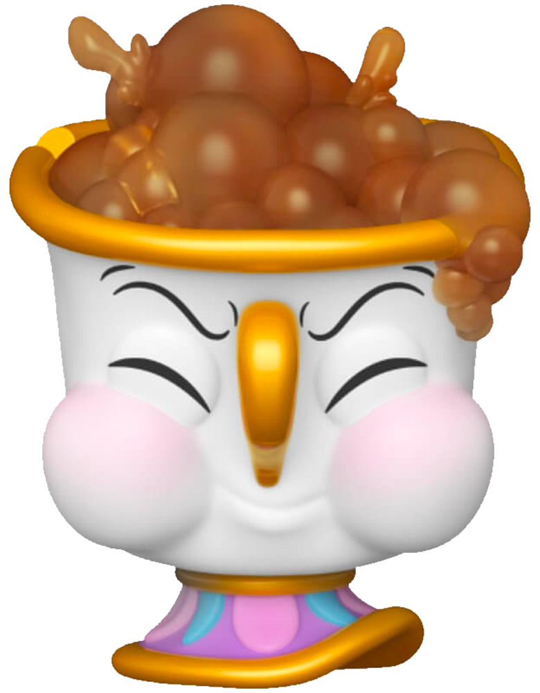 Beauty and The Beast - Chip Potts with Bubbles Pop! Vinyl Figure (RS) - Rogue Online Pty Ltd