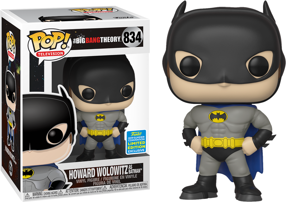 Big Bang Theory - Howard Wolowitz as Batman SDCC 2019 Exclusive Pop! Vinyl - Rogue Online Pty Ltd