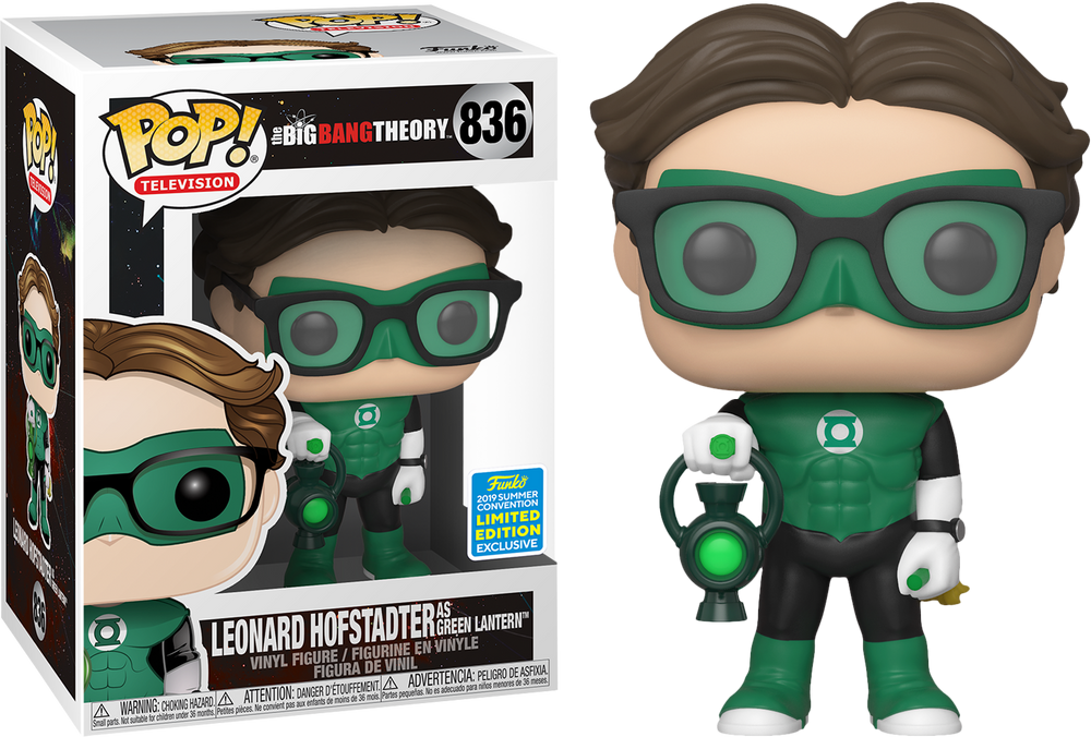 Big Bang Theory - Leonard Hofstadter as Green Lantern SDCC 2019 Exclusive Pop! Vinyl - Rogue Online Pty Ltd