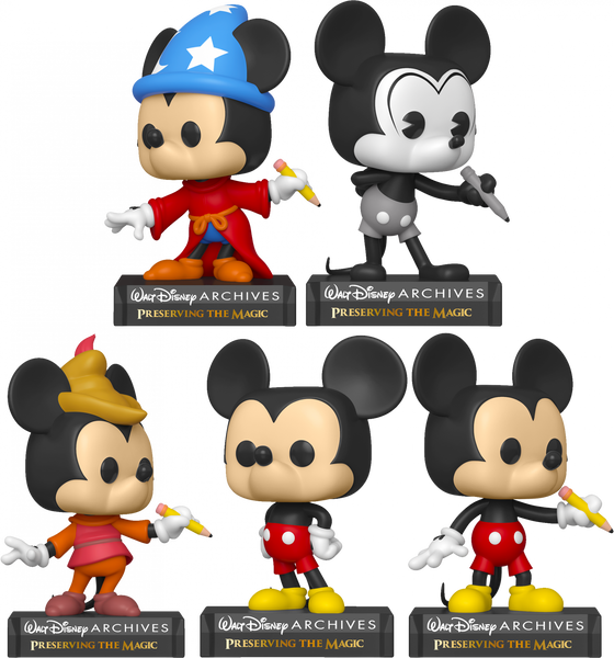 Walt Disney Archives - Mickey Mouse 50th Anniversary Pop! Vinyl Bundle (Set of 5) - Rogue Online Pty Ltd
