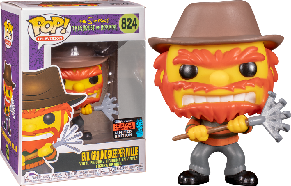 NYCC 2019 Exclusive – The Simpsons: Evil Groundskeeper Willie Pop! Vinyl - Rogue Online Pty Ltd