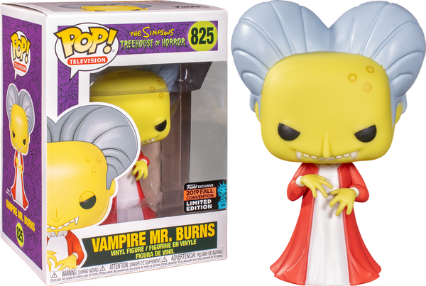 NYCC 2019 Exclusive – The Simpsons: Vampire Mr Burns Pop! Vinyl - Rogue Online Pty Ltd