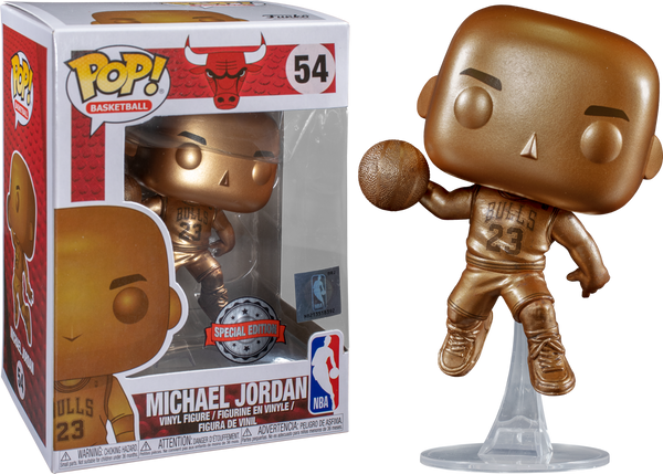 NBA: Bulls - Michael Jordan Bronzed US Exclusive Pop! Vinyl - Rogue Online Pty Ltd