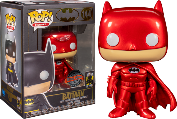 Batman - Batman Red Metallic US Exclusive Pop! Vinyl [RS] - Rogue Online Pty Ltd