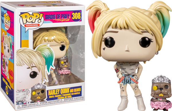 Birds of Prey - Harley Quinn with Beaver Pop! Vinyl - Rogue Online Pty Ltd