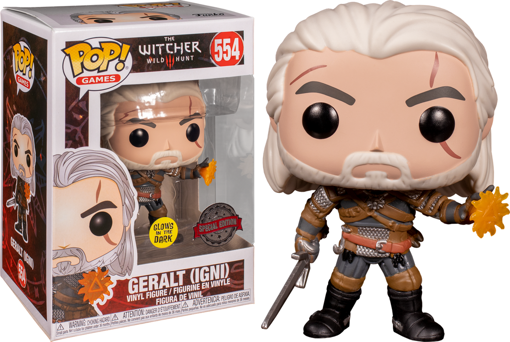 The Witcher 3: Wild Hunt - Geralt Igni Glow in the Dark Pop! Vinyl Figure (RS) - Rogue Online Pty Ltd