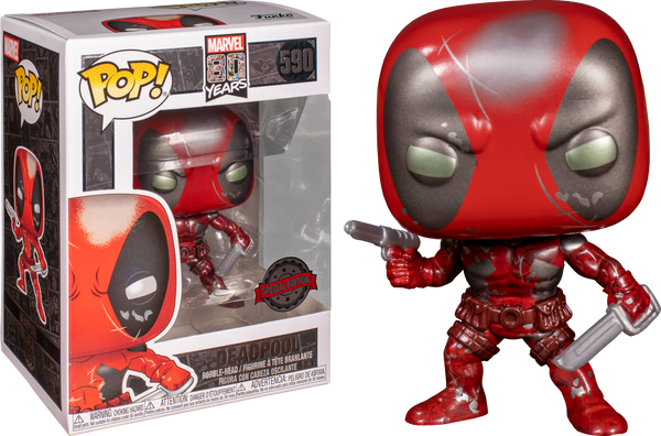 Deadpool - Deadpool 1st Appearance Metallic 80th Anniversary US Exclusive Pop! Vinyl [RS] - Rogue Online Pty Ltd