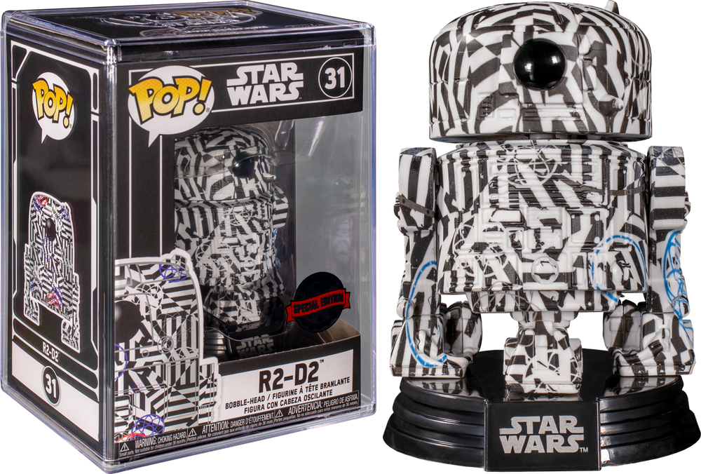 Star Wars - R2-D2 (Futura) US Exclusive Pop! Vinyl with Protector [RS] - Rogue Online Pty Ltd