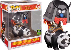 "Mulan Rides - Mushu Riding Panda 6"" ECCC 2020 Exclusive Pop! Vinyl - Rogue Online Pty Ltd"
