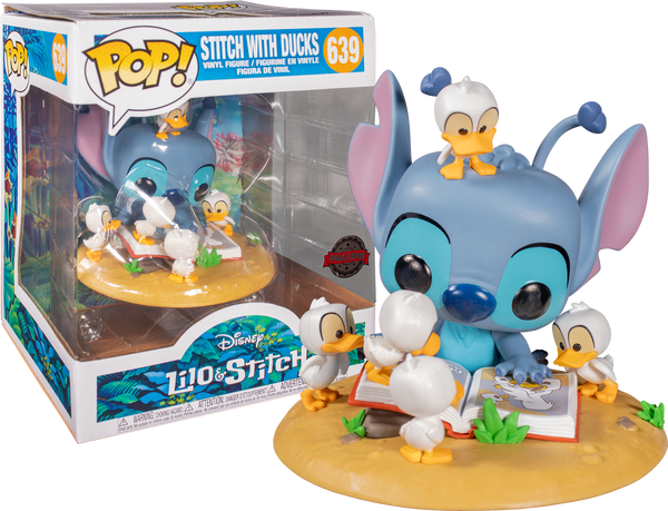 Lilo & Stitch - Stitch with Ducks Deluxe Pop! Vinyl Figure (RS) - Rogue Online Pty Ltd
