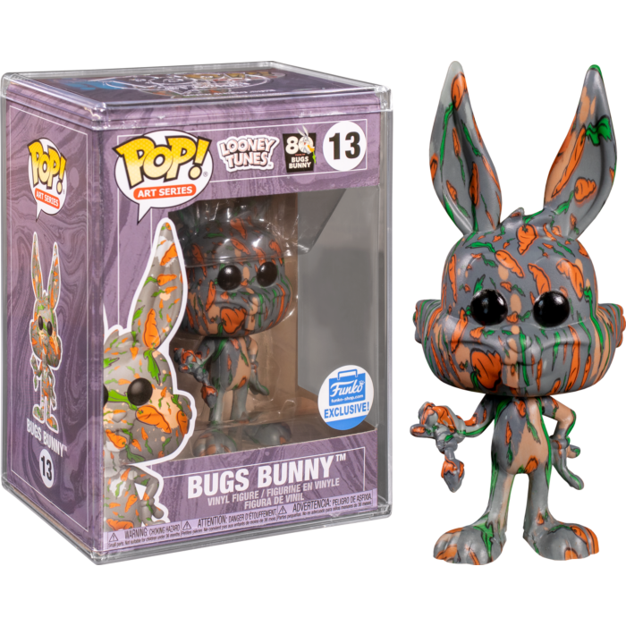 Looney Tunes - Bugs Bunny Carrot Artist Series Pop! Vinyl Figure with Pop! Protector (Popcultcha Exclusive) - FUNKO SHOP EXCLUSIVE IMPORT